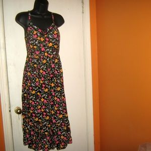 Old Navy XS Fit & Flare Black Tiered Cami …